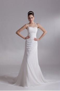 Chiffon Halter A Line Gown