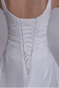 Taffeta Straps A Line Gown