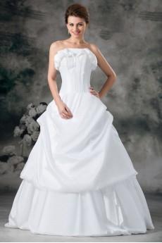 Taffeta Strapless A Line Gown