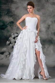 Taffeta Sweetheart A Line Gown