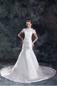 Satin Sweetheart Sheath Gown