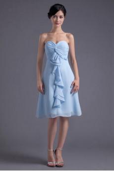Chiffon Sweetheart Knee Length Dress