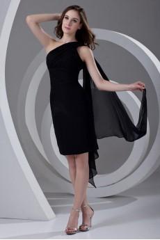 Chiffon Asymmetrical Knee Length Dress