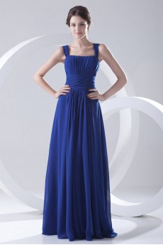 Chiffon Strapless Floor Length Dress
