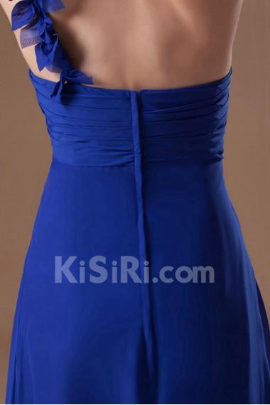 Chiffon One Shoulder Column Dress