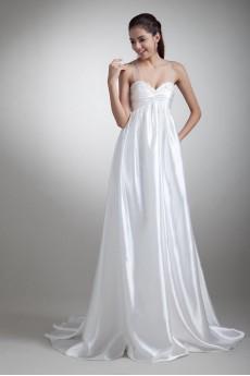 Taffeta Sweetheart Empire Gown