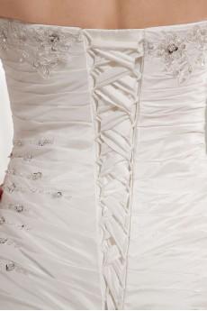 Taffeta Strapless Mermaid Dress