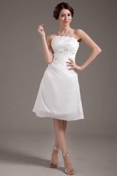 Chiffon Strapless Short A-Line Dress