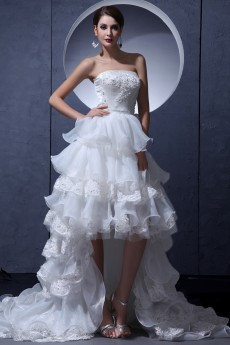 Yarn Strapless A-Line Dress