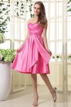 Taffeta Sweetheart Short A-line Dress with Ruffle