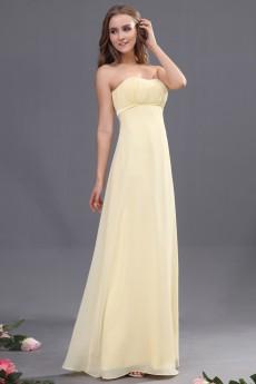 Chiffon Scoop Neckline Floor Length Empire Dress with
