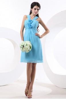 Chiffon Straps Neckline Short Empire Dresss