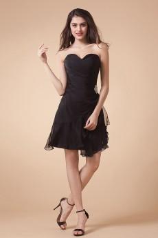 Yarn Sweetheart Short A-line Dress with Beaded