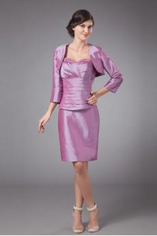 Taffeta Sweetheart Short Sheath Dress with Jacket