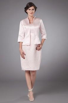 Taffeta Strapless Short Sheath Dress with Jacket
