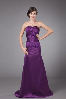 Charmeuse Strapless A-line Dress