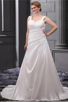 Sequins Ruffle Straps Plus Size Gown