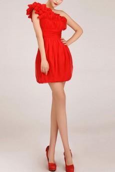 Chiffon  Short Sheath Dress with Ruffle