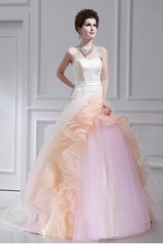 Organza Strapless Ball Gown