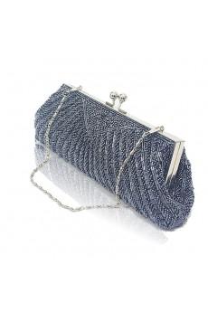 Satin Surface Gray Bead Handbag