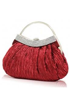 Satin Handbag/Clutche with Rhinestone