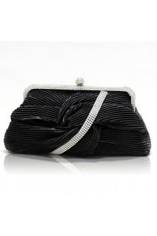 Satin Wedding or Handbag with Rhinestone