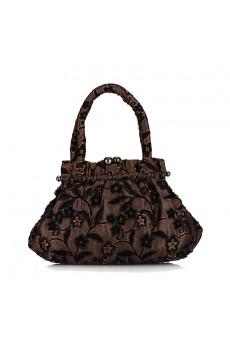 Silk Embroidery Flower Bead Handbag/Clutche