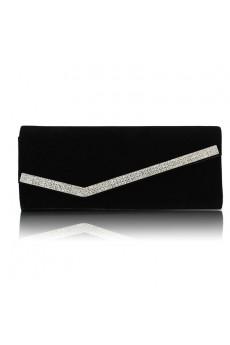 Velvet Evening or OL Handbag with Rhinestone