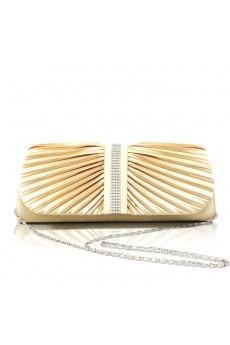 Satin OL Handbag with Shiny Rhinestone