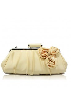 Satin Wedding or OL handbag with Handmade Rose H