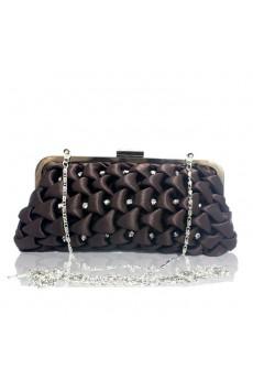 Satin Handbag with Rhinestone