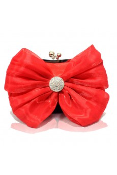 Satin and Chiffon Evening Bowknot Handbag