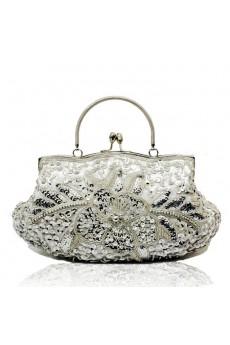Satin Embroidery Bead Handbag