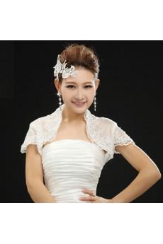 Lace Wedding Wrap With Rhinestone