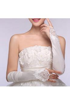 Fingerless Bridal Wedding Long Gloves