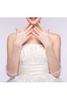 Fingerless Elbow Length Bridal Wedding Gloves