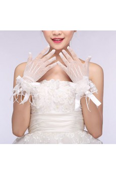 Wrist Length Bridal Wedding Gloves