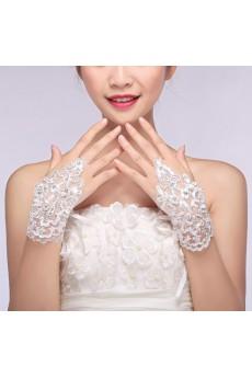 Fingerless Wrist Length Bridal Wedding Gloves