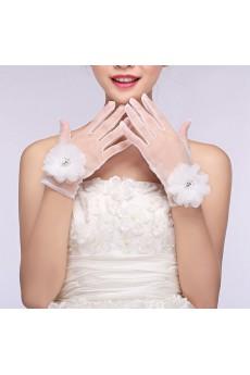 Wrist Length Bridal Gloves