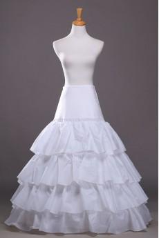 A-Line 4 Tier Floor Length Underskirt Bridal Wedding Petticoat