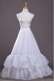 A-Line 2 Tier Floor Length Bridal Wedding Petticoat Underskirt