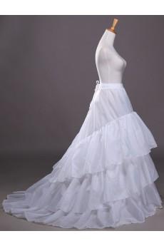 A-Line 3 Tier Chapel Train Underskirt Wedding Petticoat For Brides