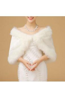 Elegant Faux Fur Wedding / Special Occasion Shawl