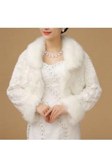 Beautiful Long Sleeve Faux Fur Evening/Wedding Shawl