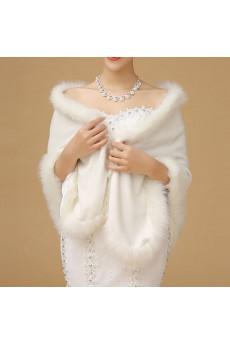 Faux Fur Wedding / Party Shawl/ Wrap