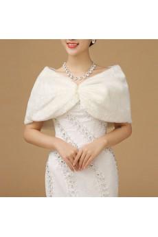 Elegant Half-Sleeve Faux Pear Fur Wedding Wrap