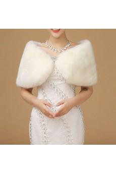 Faux Fur Special Occasion/ Wedding Shawl/Wrap