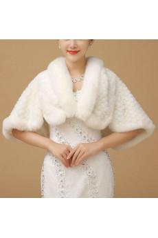 Warm Faux Fur Wedding Shawl