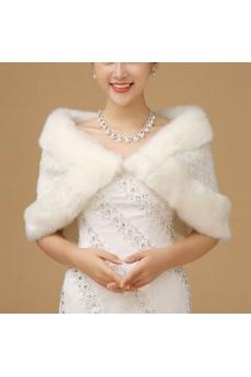 Stylish  Faux Fur Wedding / Evening Wrap