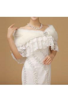 Faux Rhinestone Lace Fur Bridal Wedding / Party / Evening Wrap